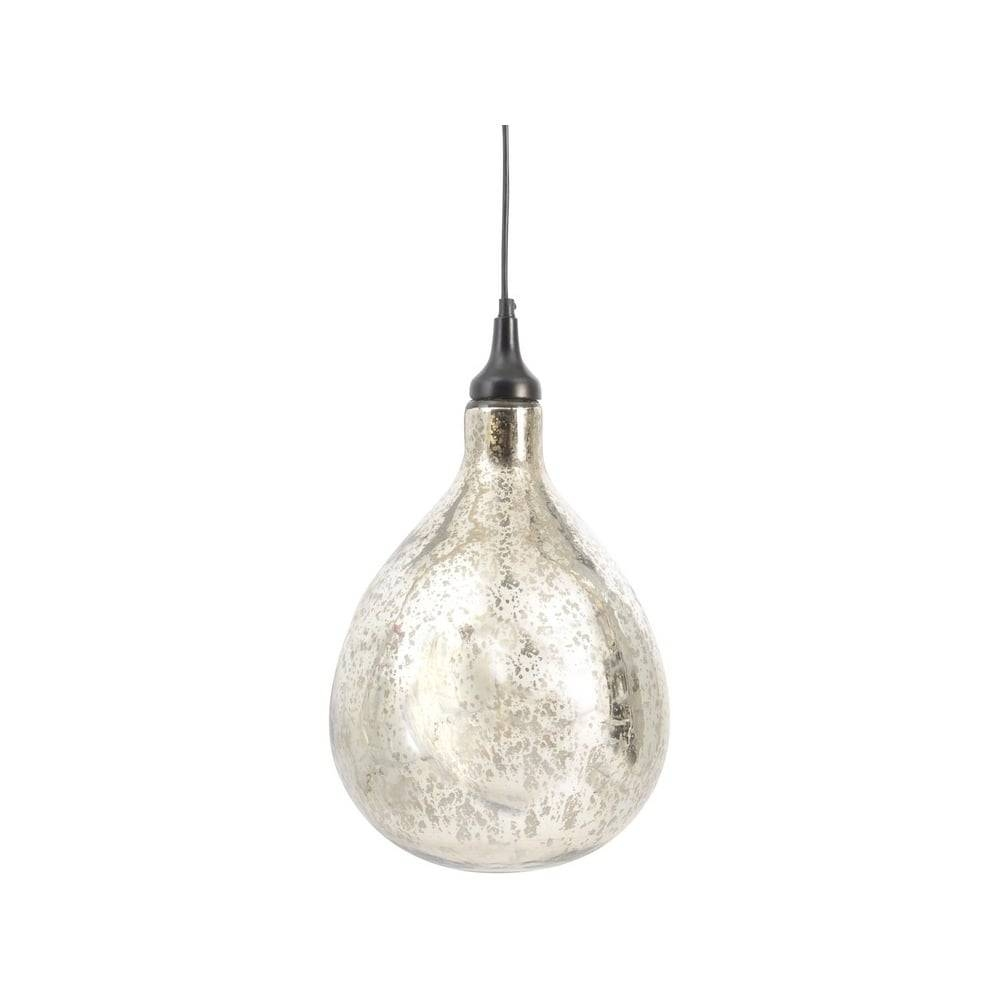 Silver Blown Glass Bubble | Ceiling Light | On Sale At Lightplan regarding Mercury Glass Ceiling Lights (Image 15 of 15)