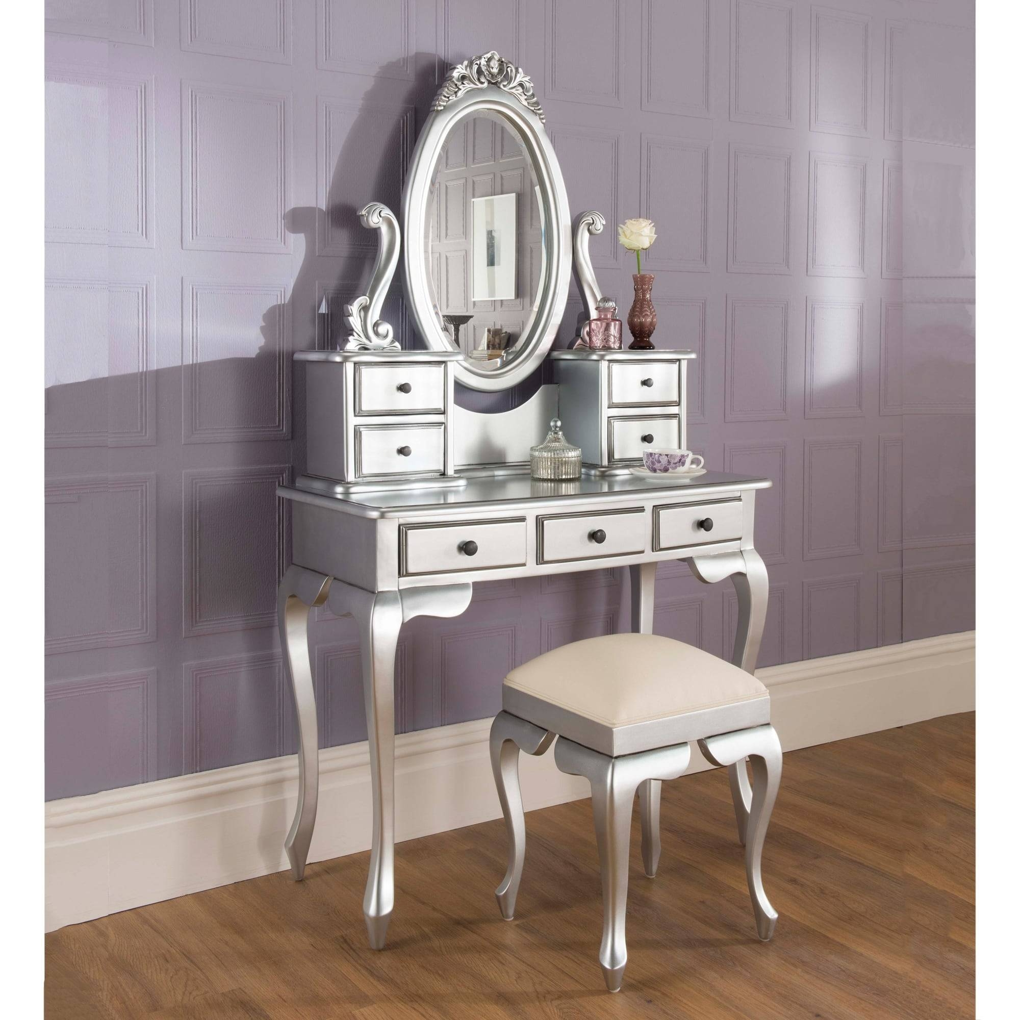 Silver Dressing Table Set | Antique French Intended For Silver Dressing Table Mirrors (View 14 of 15)