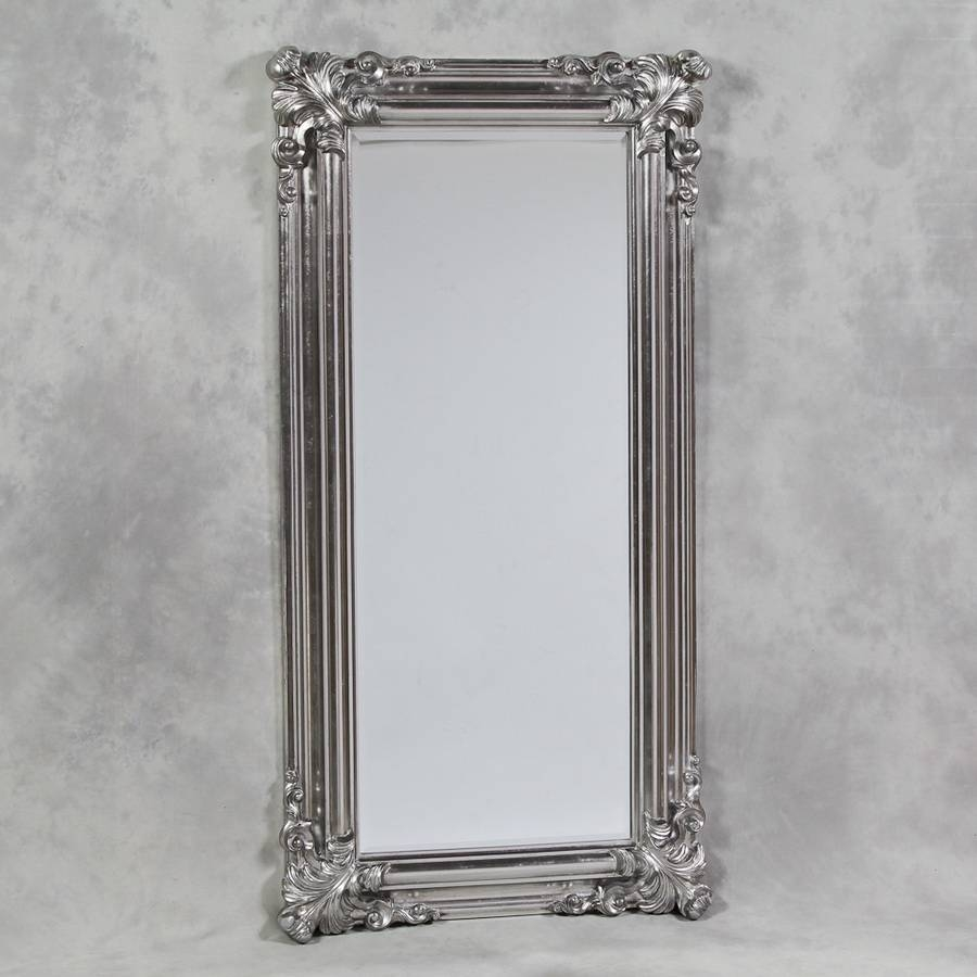 Silver Framed Mirrors With Regard To Ornate Standing Mirrors (View 11 of 15)