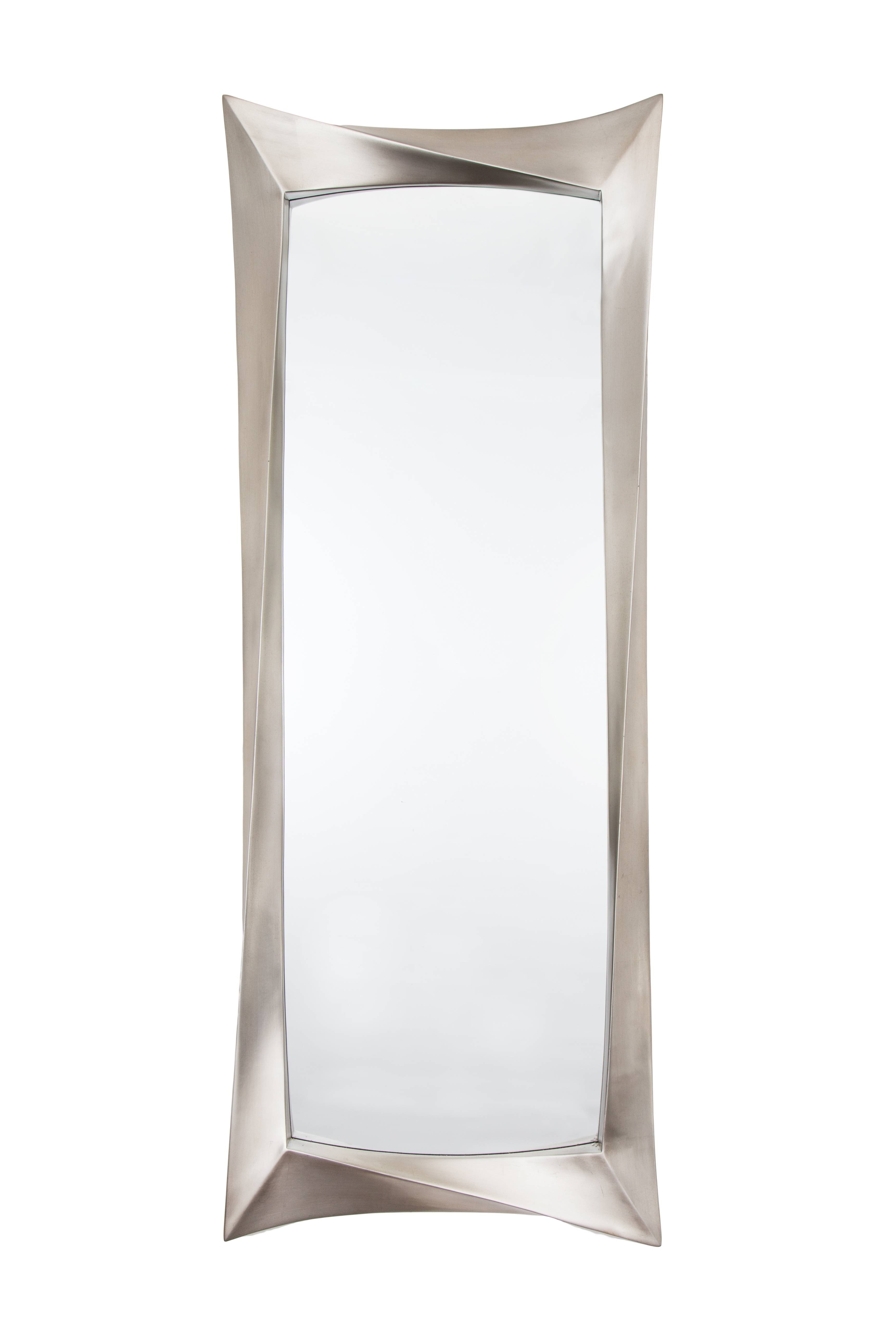 Silver Long Wall Mirror intended for Silver Long Mirrors (Image 15 of 15)