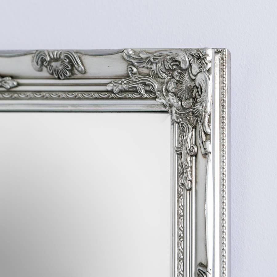Silver Pewter Mirrorhand Crafted Mirrors | Notonthehighstreet For Pewter Ornate Mirrors (View 13 of 15)
