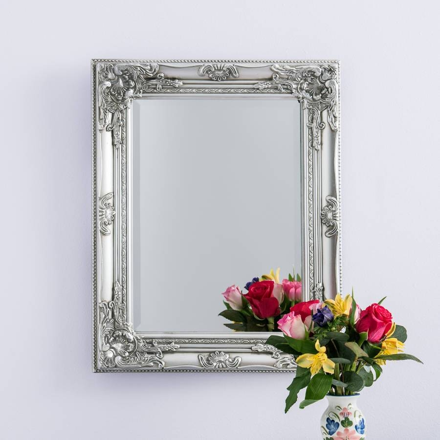 Silver Pewter Mirrorhand Crafted Mirrors | Notonthehighstreet Pertaining To Pewter Ornate Mirrors (View 14 of 15)
