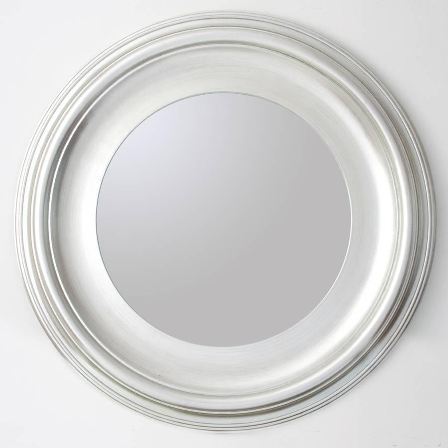 Silver Round Mirrordecorative Mirrors Online inside White Round Mirrors (Image 14 of 15)