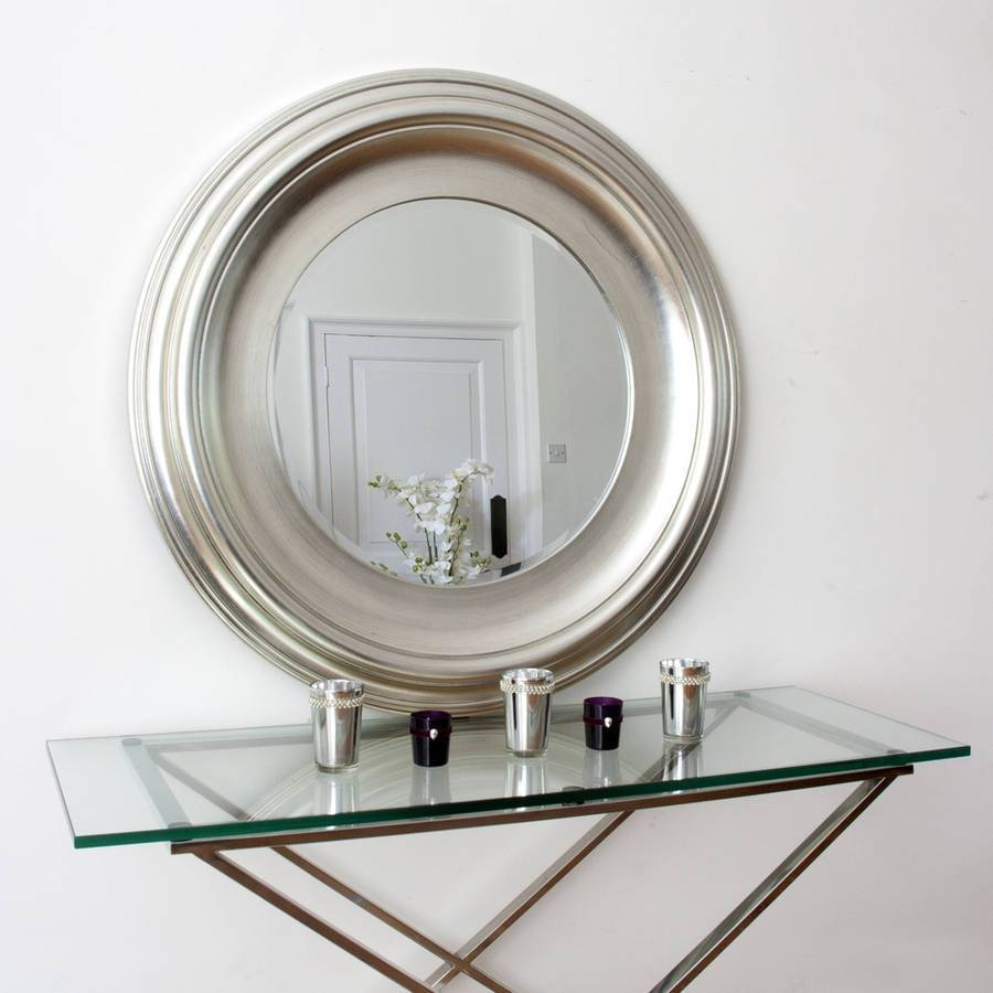 Silver Round Mirrordecorative Mirrors Online within Round Silver Mirrors (Image 13 of 15)
