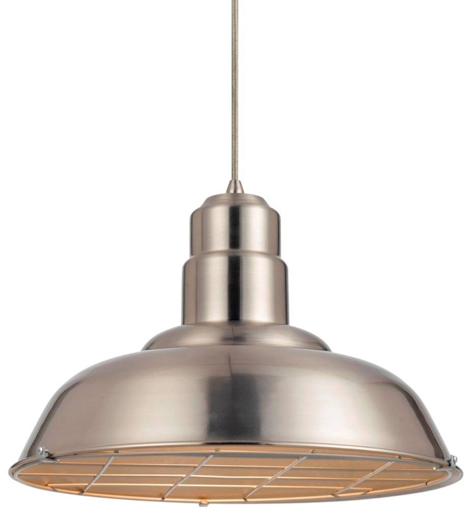 Silver Warehouse Vintage Pendant Light 16"