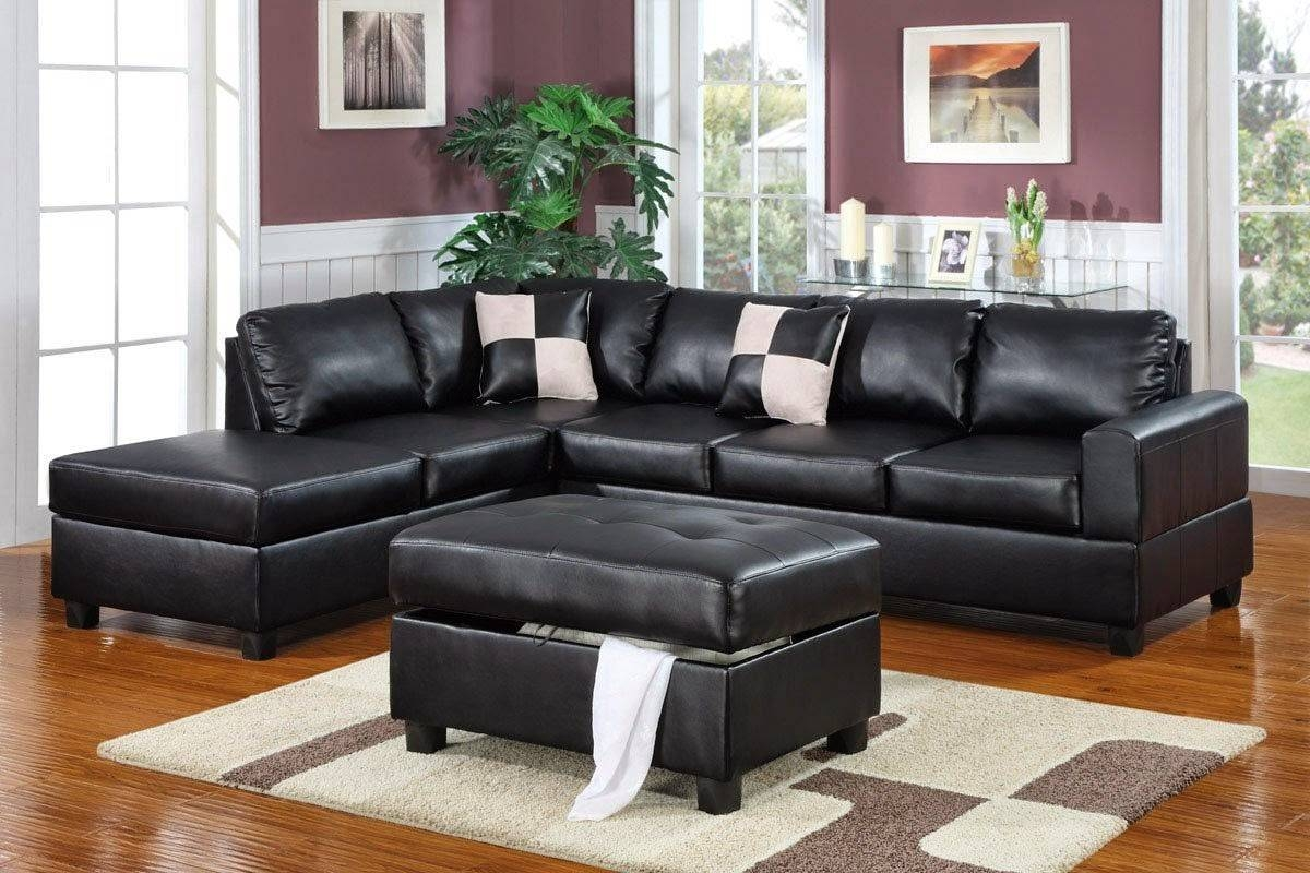 Simple 3 Piece Leather Sectional Sofa With Chaise 64 About Remodel regarding Individual Sectional Sofas Pieces (Image 13 of 15)