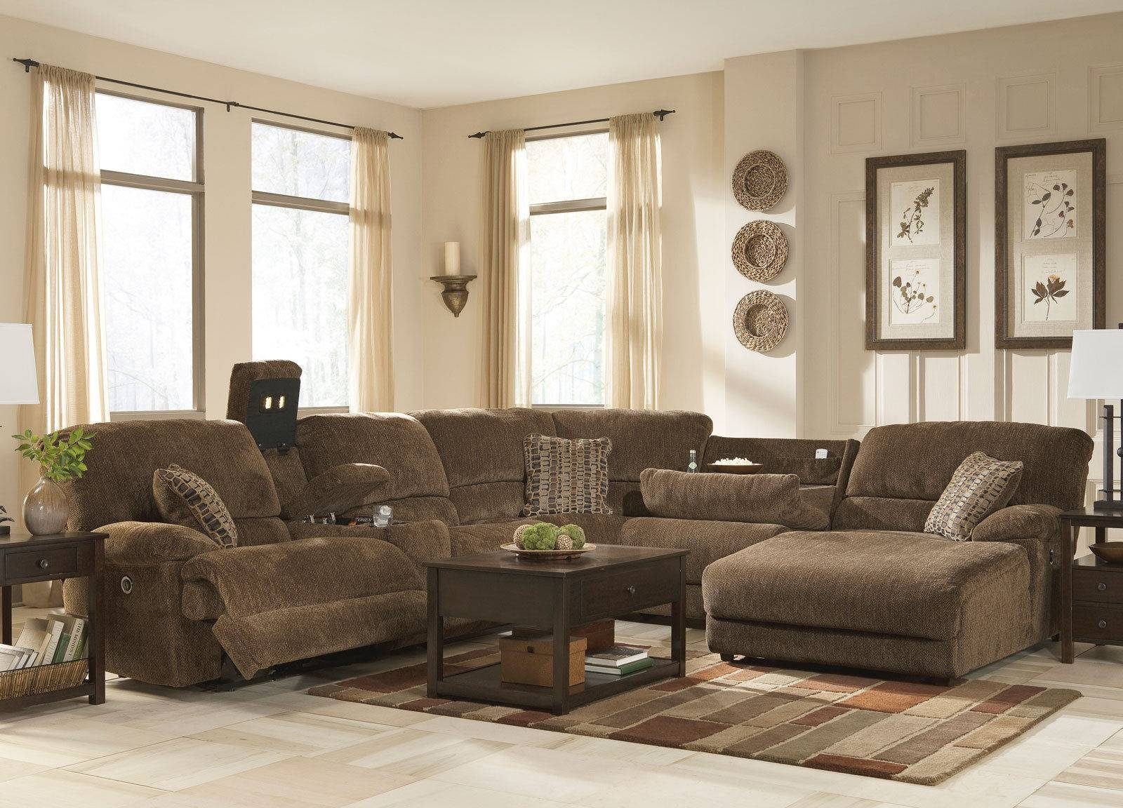 Simple Chenille Sectional Sofa With Chaise 77 For Your with regard to Chenille Sectional Sofas With Chaise (Image 14 of 15)
