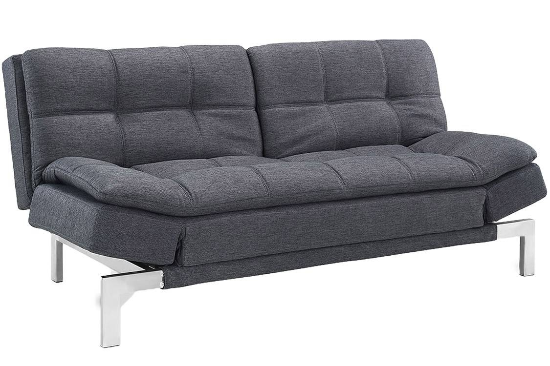 Simple Modern Futon Sofa Bed Grey | Boca Futon| The Futon Shop inside Convertible Sofa Chair Bed (Image 14 of 15)