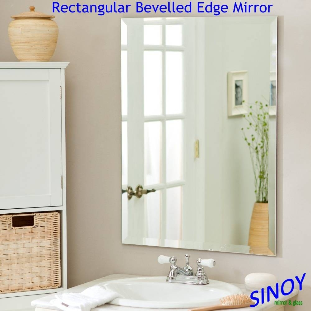 Sinoy 3Mm – 6Mm Beveled Edge Mirror Glass In Different Shapes For Throughout Bevelled Glass Mirrors (View 15 of 15)