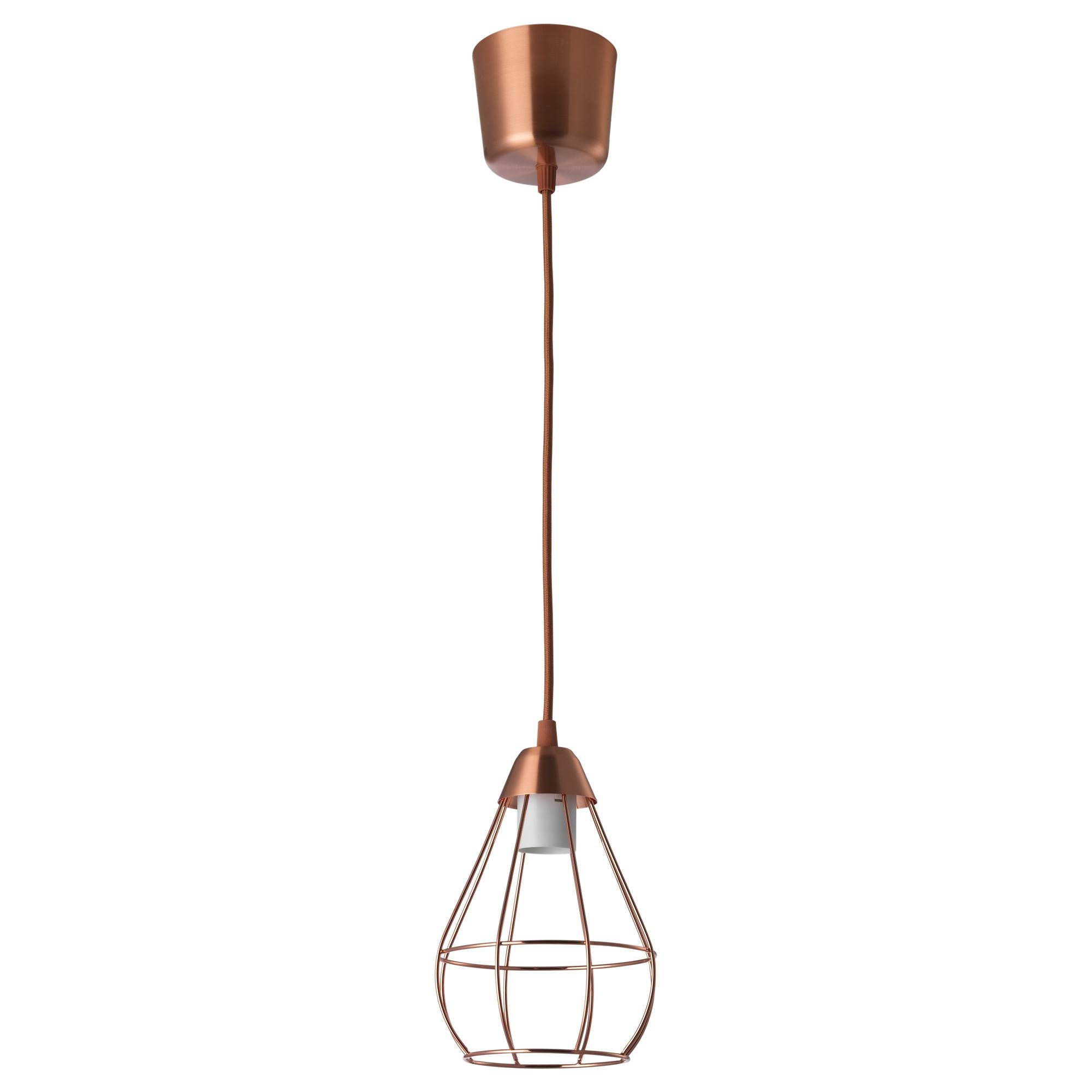 Slättbo Pendant Lamp Copper-Colour 14.5 Cm - Ikea regarding Ikea Pendant Light Kits (Image 14 of 15)