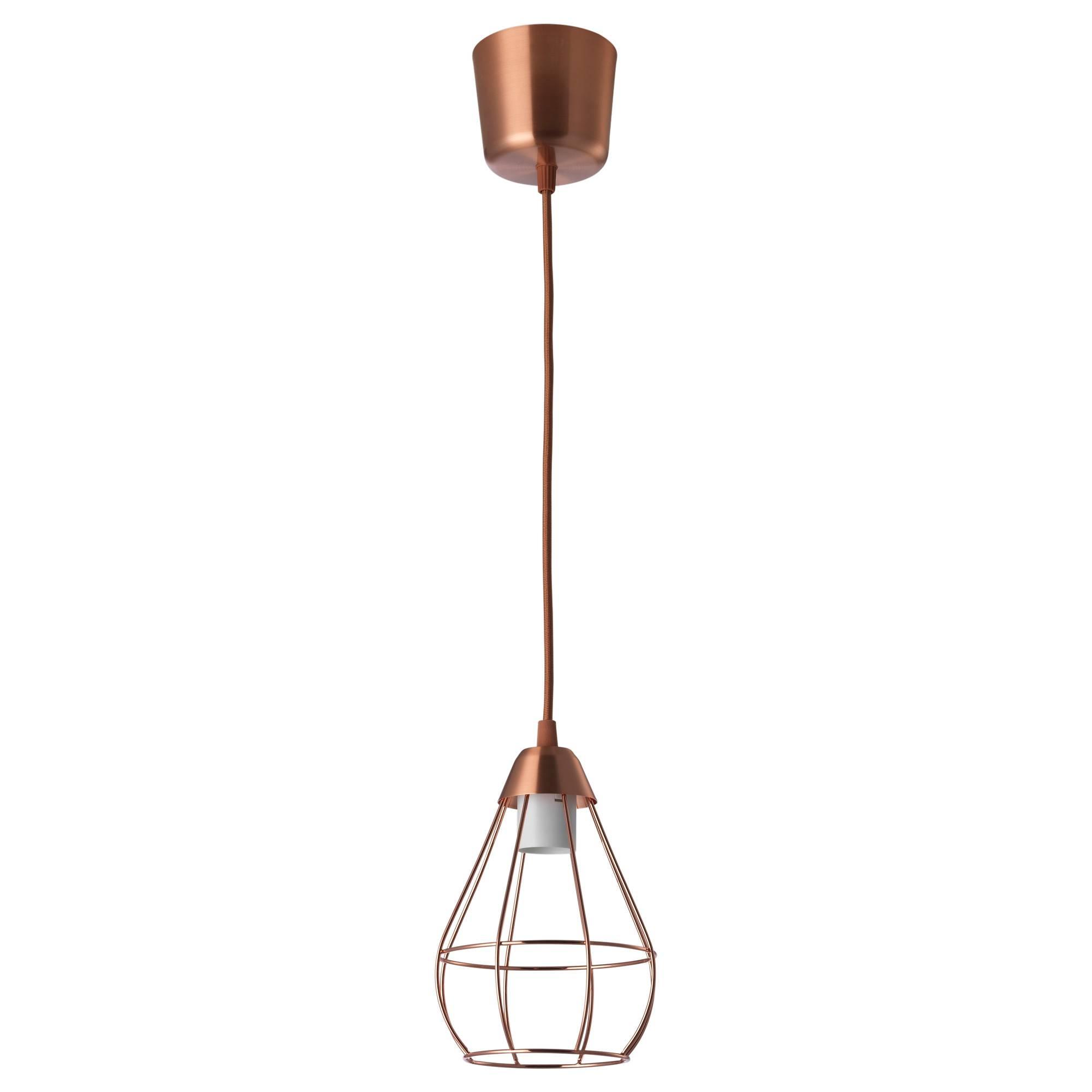 Slättbo Pendant Lamp Copper-Colour 14.5 Cm - Ikea within Corded Pendant Lights (Image 12 of 15)