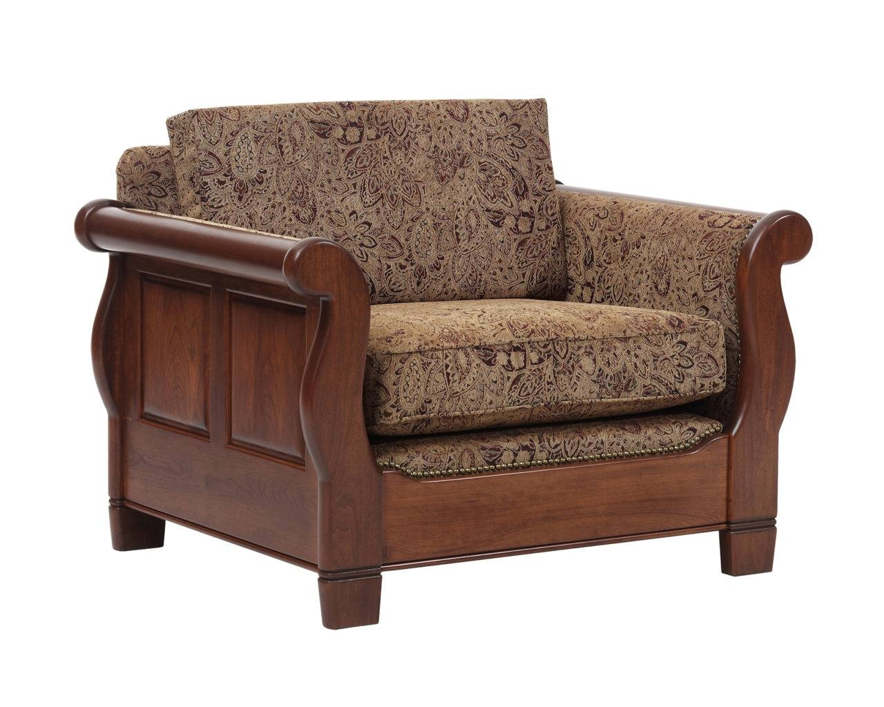 Sleigh Sofa Chair With Single Back Cushion - Gish's Amish Legacies regarding Sofa With Chairs (Image 12 of 15)