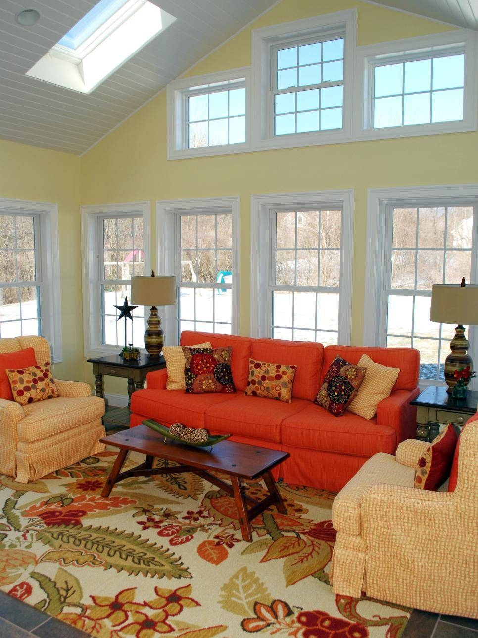 Slipcovers For Sofas, Chairs & Ottomans | Hgtv Regarding Colorful Sofas And Chairs (View 14 of 15)