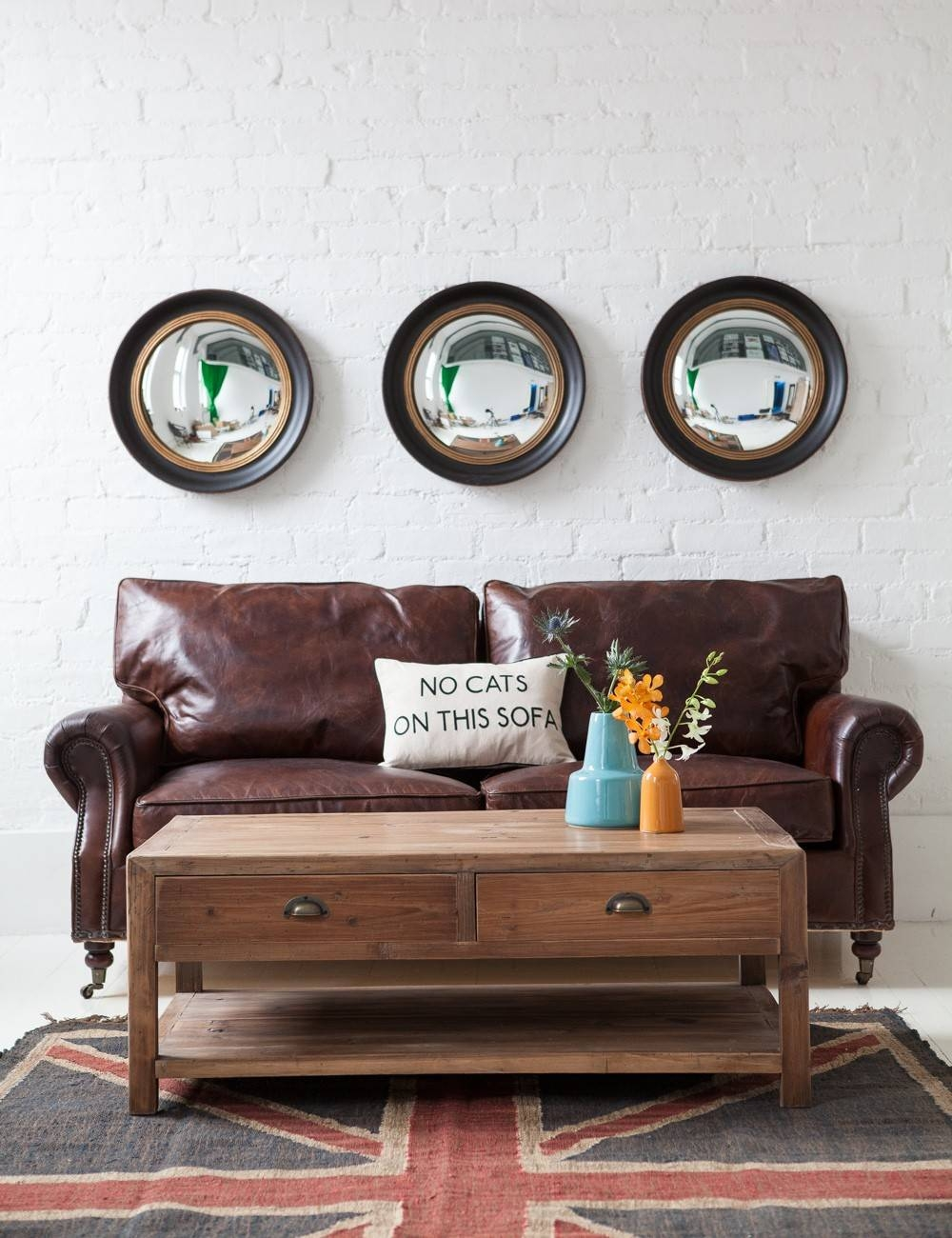 Small Convex Mirror For Creating Striking Wall Decoration | Homesfeed For Convex Decorative Mirrors (View 11 of 15)