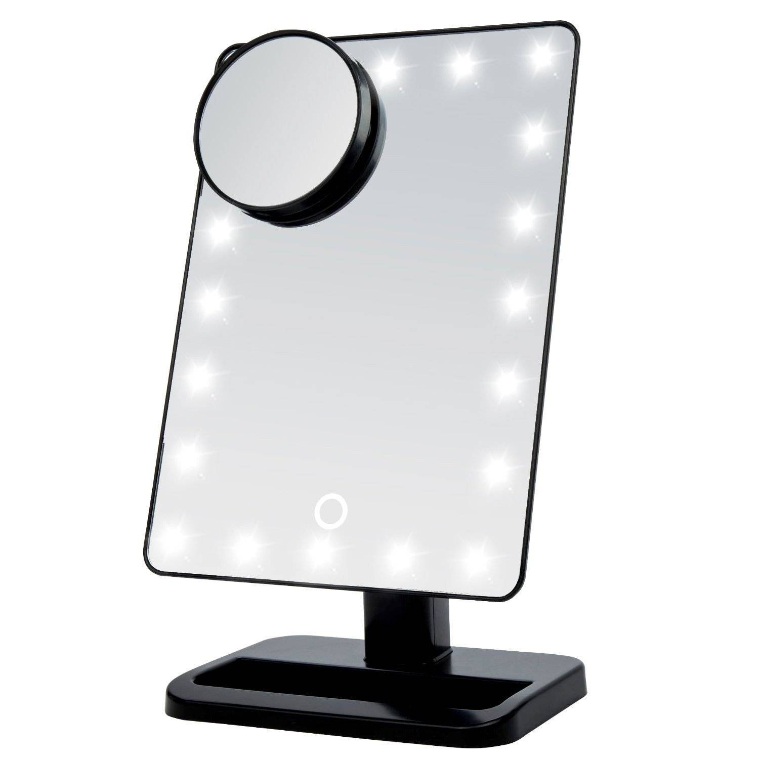 Small Mirror With Lights – Harpsounds.co inside Small Mirrors (Image 11 of 15)