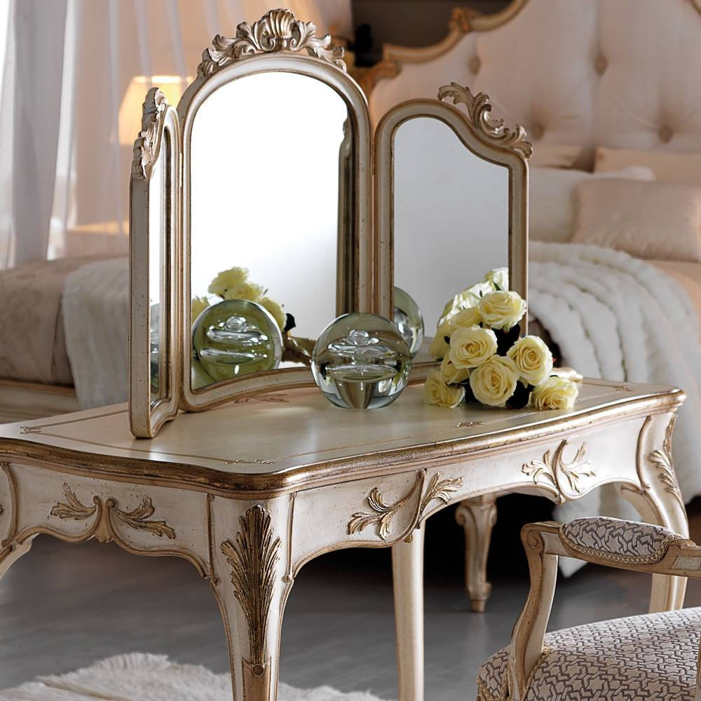 Small Ornate Italian Designer Dressing Table Set | Juliettes regarding Ornate Dressing Table Mirrors (Image 12 of 15)