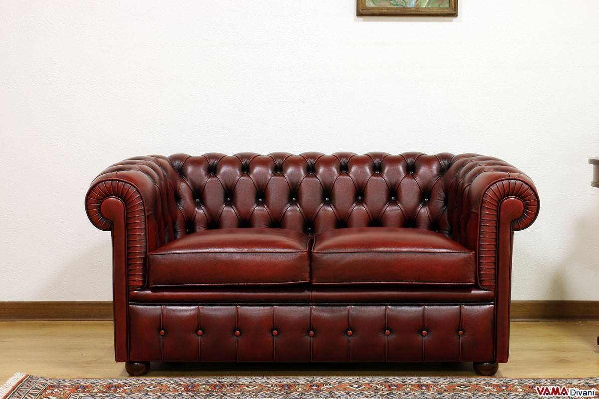 Smaller Chesterfield Sofa: Chesterino for Red Leather Chesterfield Sofas (Image 13 of 15)