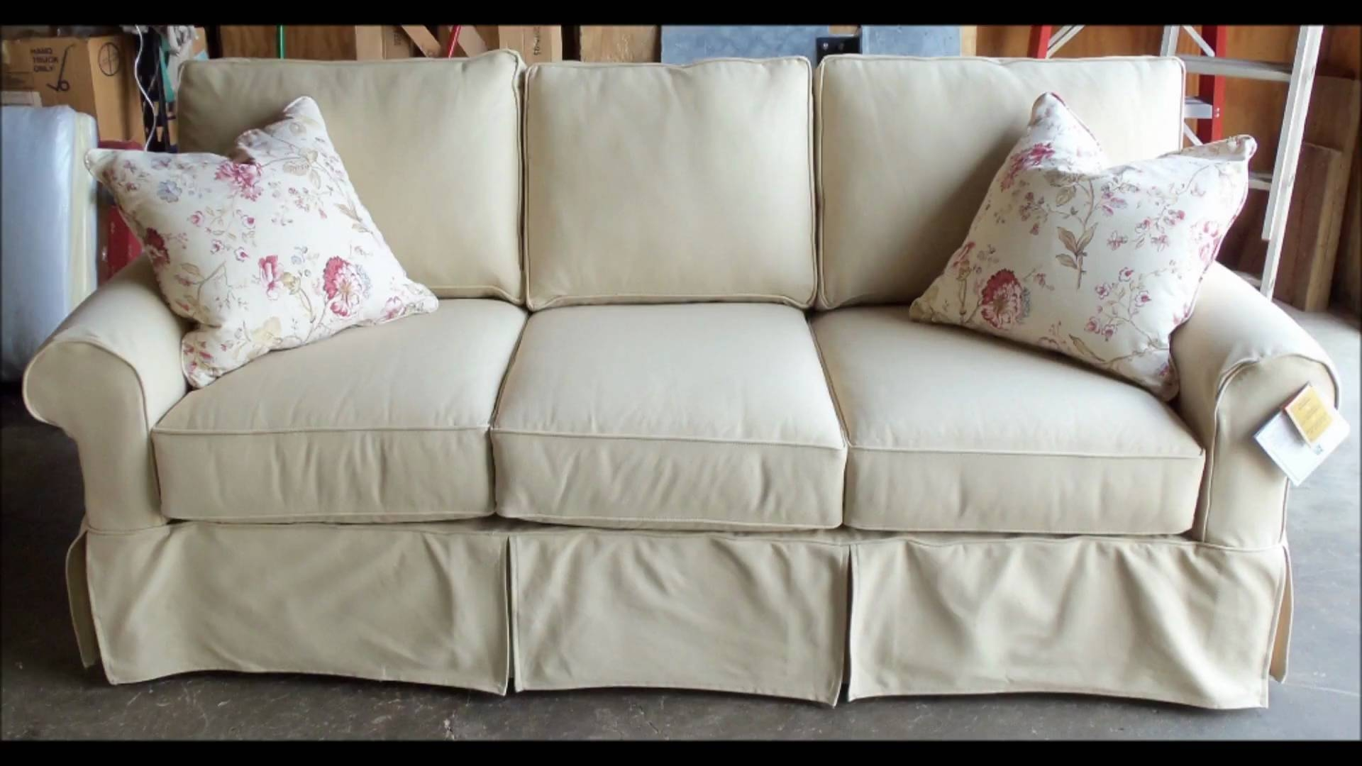 Sofa Slip Covers. Chic Home Melinda Box Quilted Quick Drape Chair pertaining to Slipcover Style Sofas (Image 14 of 15)