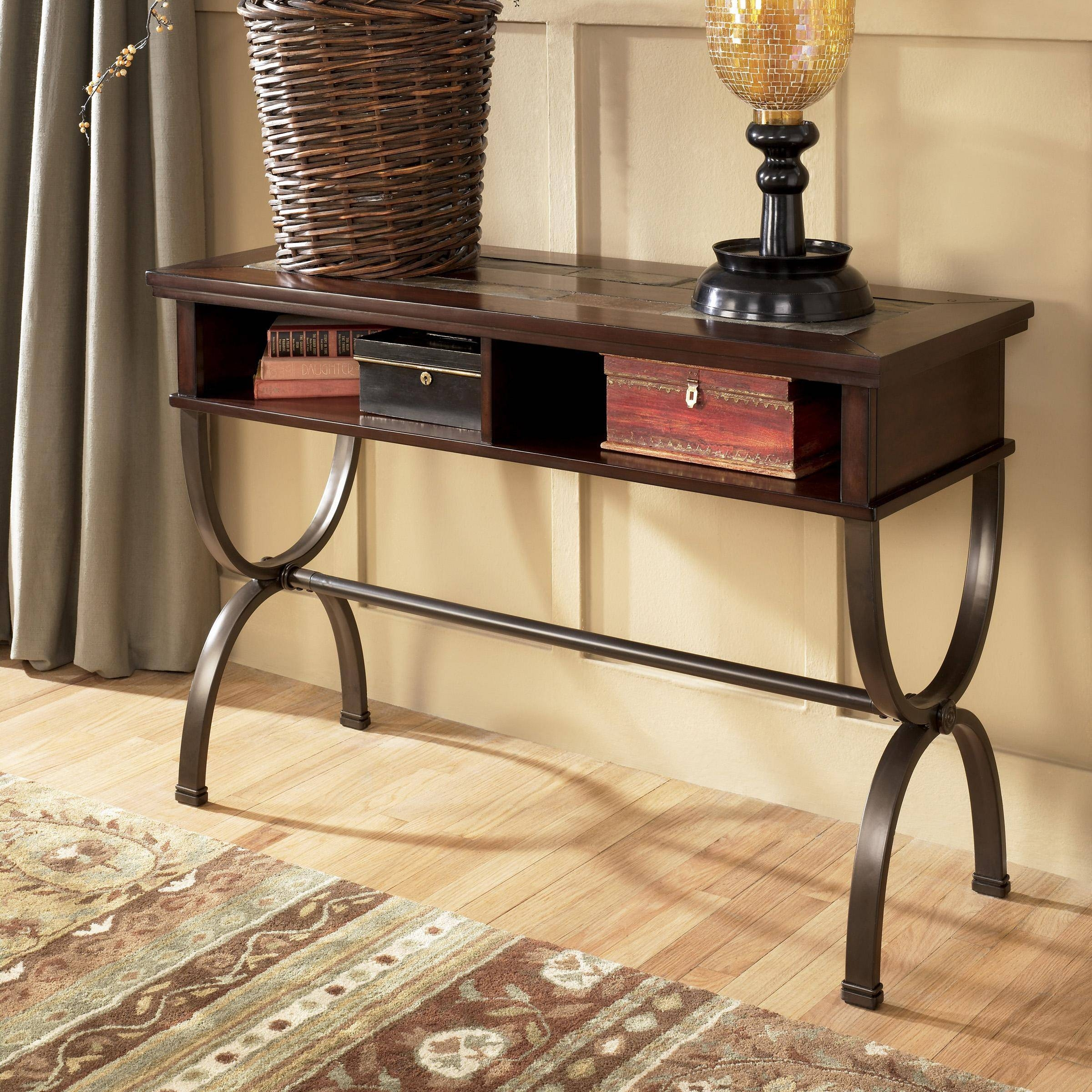Sofa/console Table With Slate Inlay And Metal Basesignature with regard to Slate Sofa Tables (Image 14 of 15)