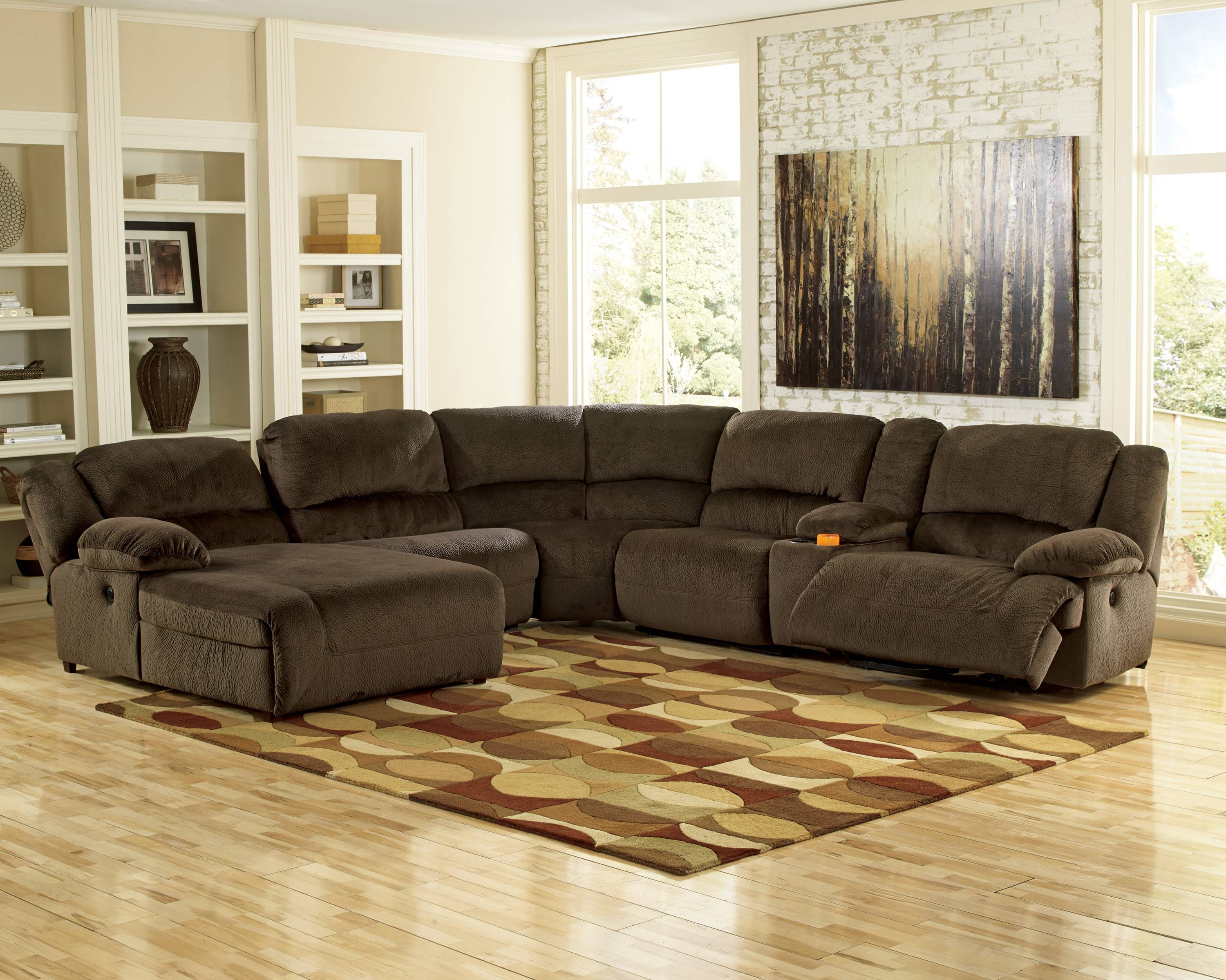 Sofas Center : Ashley Furniture Sectionals Sectional Couch Gray within Ashley Furniture Brown Corduroy Sectional Sofas (Image 14 of 15)