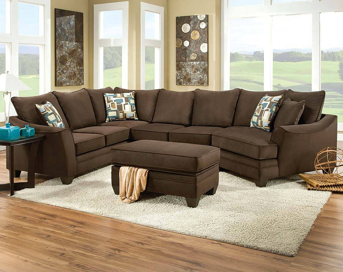 Sofas Center : Brown Microfiber Sectional Sofa With Stupendous within Chocolate Brown Microfiber Sectional Sofas (Image 13 of 15)