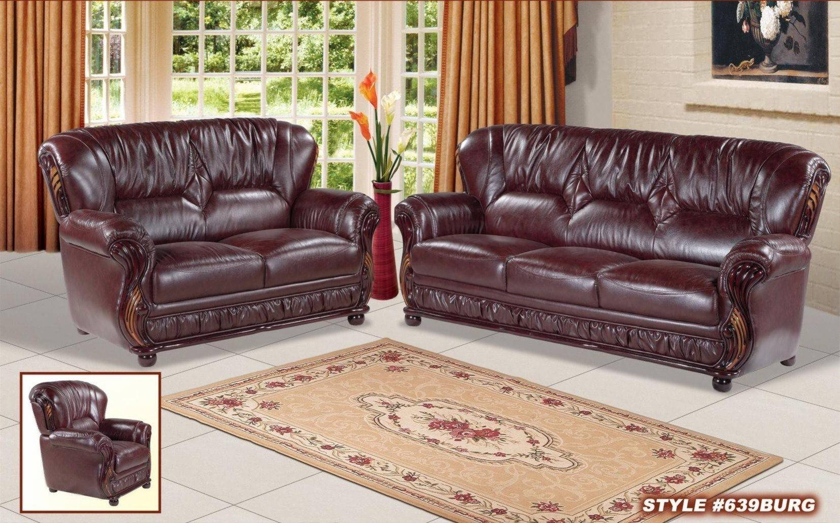Sofas Center : Burgundy Leather Sofa And Tufted Colorado With Within Burgundy Leather Sofa Sets (View 14 of 15)