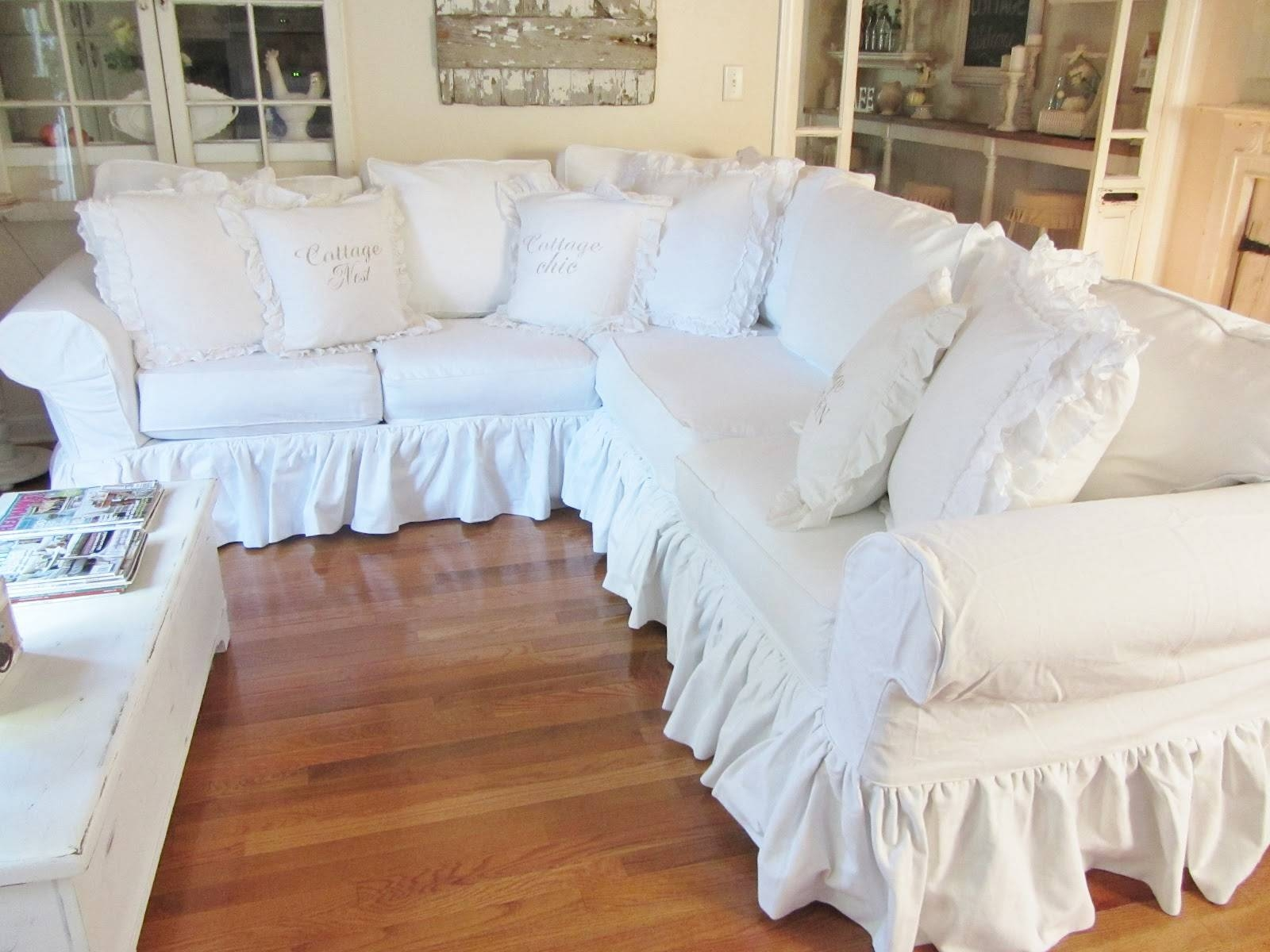 Sofas Center : Shabby Chic Slipcovers For Sofas Fascinating With Shabby Chic Sectional Couches (View 14 of 15)