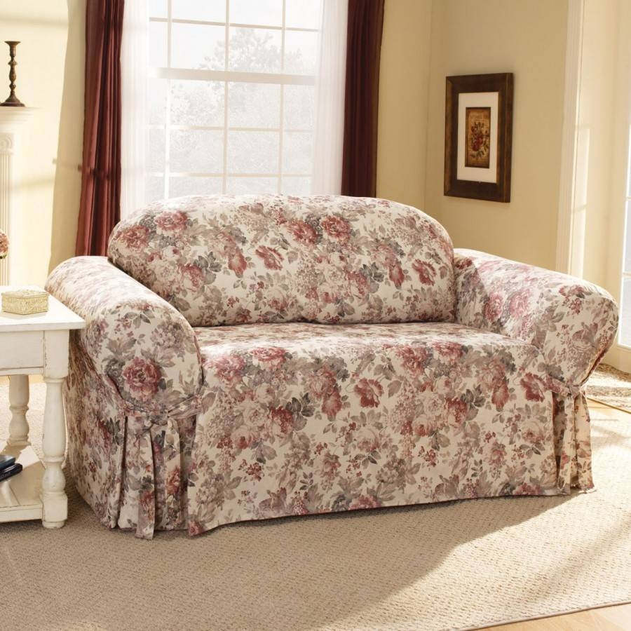 Sofas Center : Sure Fit Slipcovers Blog Casablanca Room Floral intended for Floral Sofa Slipcovers (Image 11 of 15)