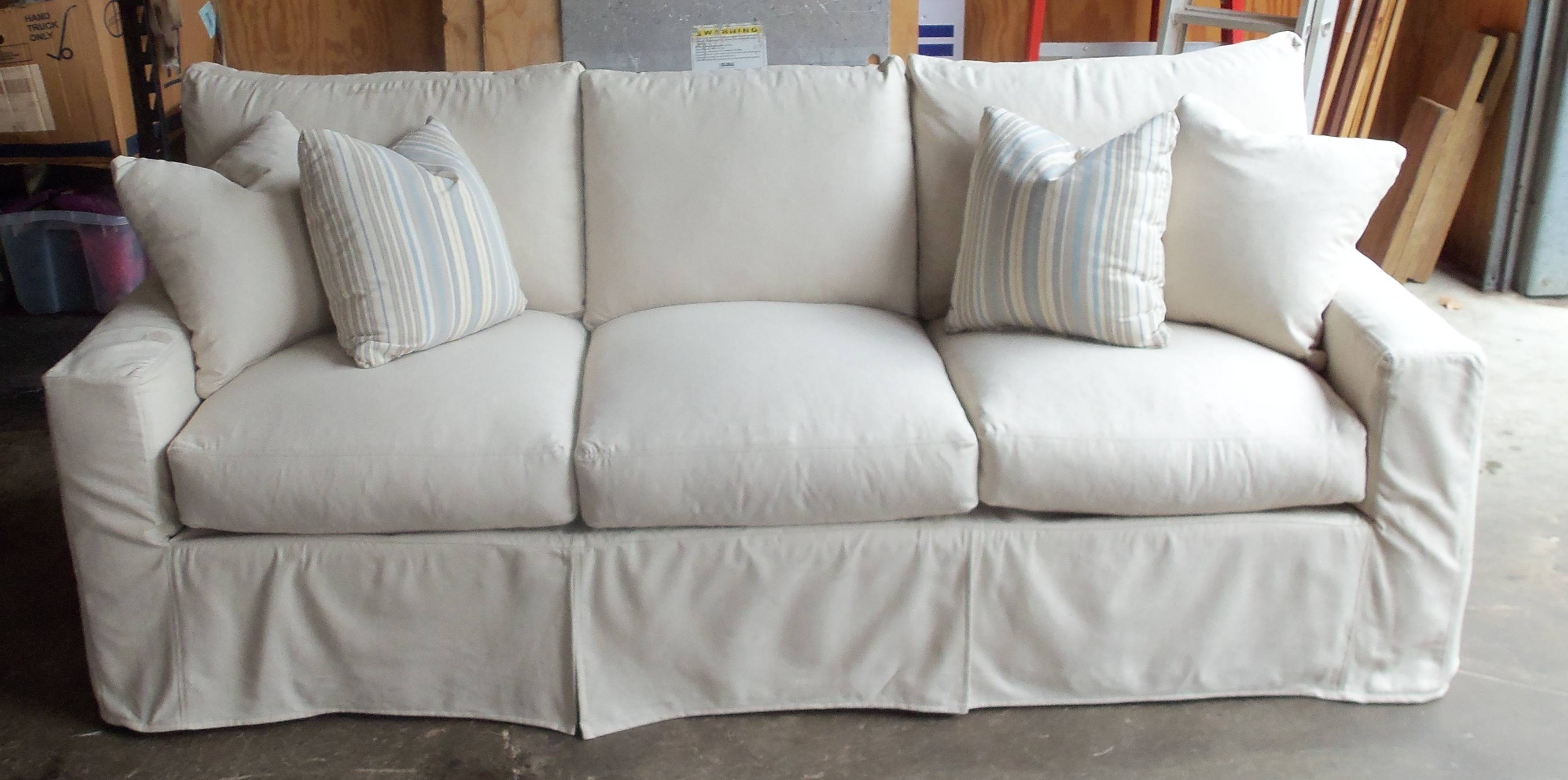 Sofas Center : White Slipcovers For Sofas With Cushions Cotton And in Canvas Sofas Covers (Image 14 of 15)