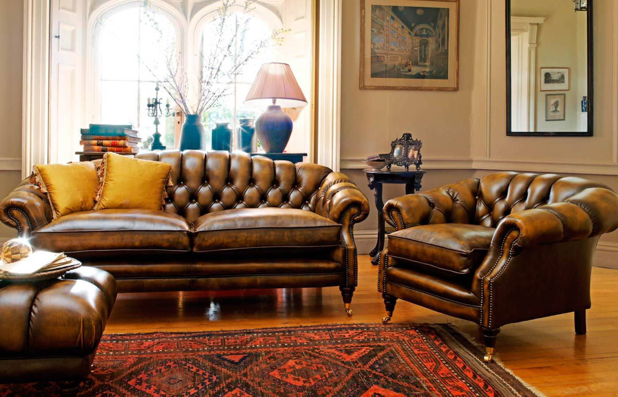 Sofas, Chesterfield & Club Chair Primer — Gentleman's Gazette Throughout Colorful Sofas And Chairs (View 15 of 15)