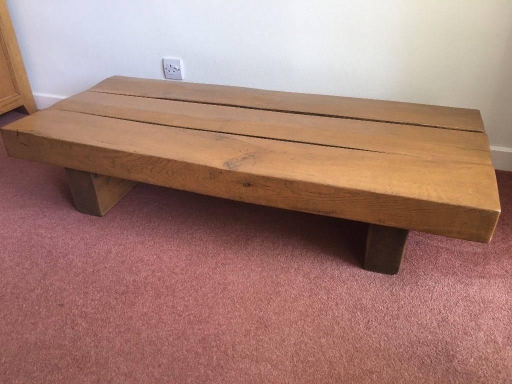 Solid Oak Sleeper Coffee Table, Buyer Collect   In West Parley throughout Oak Sleeper Coffee Tables (Image 13 of 15)