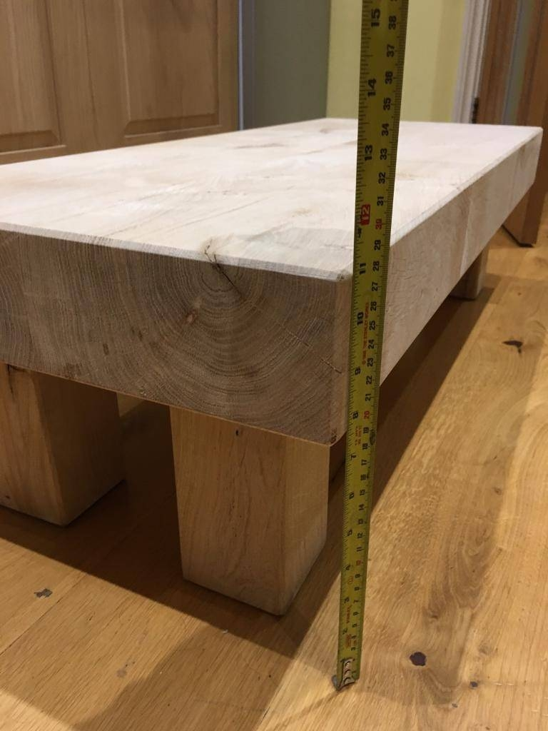 Solid Oak Sleeper Coffee Table   In Faversham, Kent   Gumtree for Oak Sleeper Coffee Tables (Image 11 of 15)