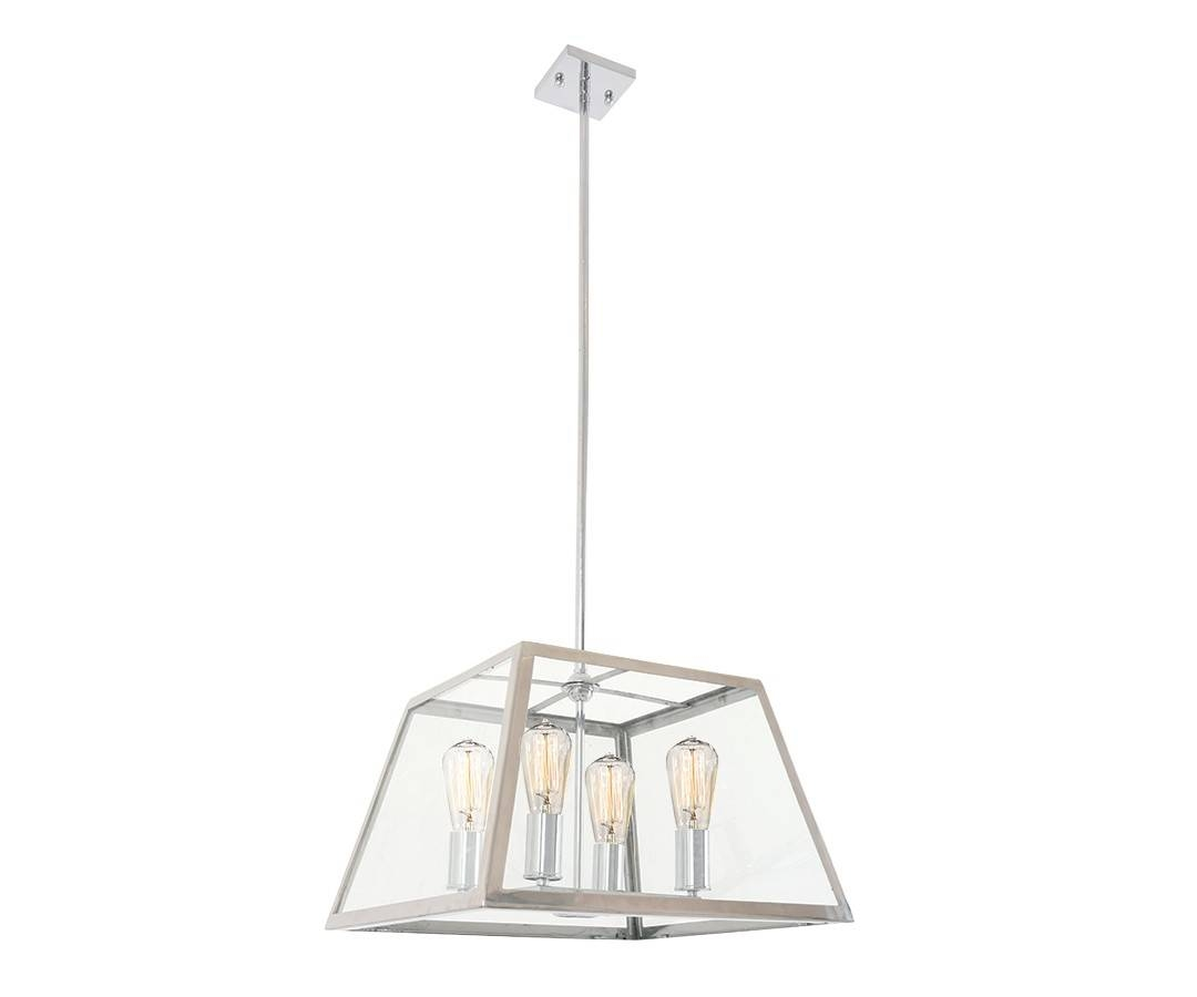 Southampton 4 Light Pendant In Stainless Steel For Stainless Steel Pendant Lights (View 7 of 15)
