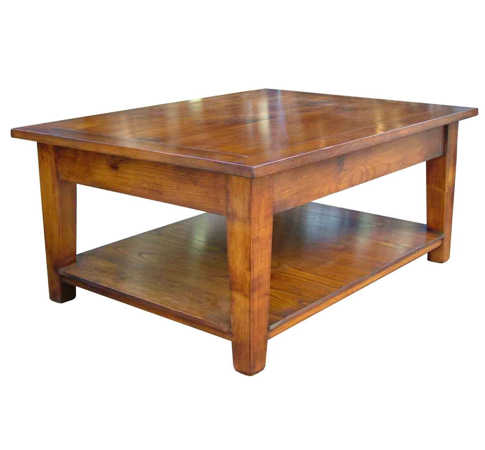 Southwold Solid Cherry Wood Coffee Table With Pot Board » Handmade throughout Handmade Wooden Coffee Tables (Image 13 of 15)
