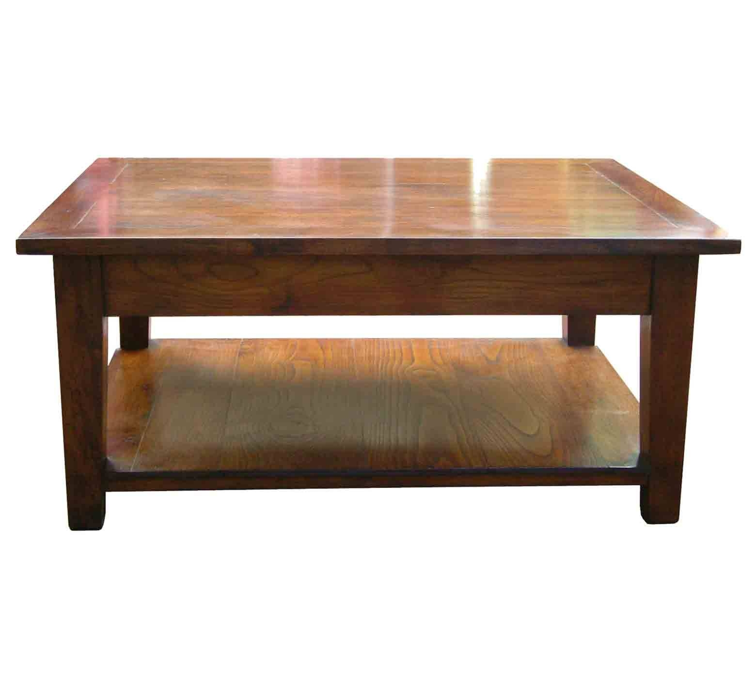 Southwold Solid Cherry Wood Coffee Table With Pot Board » Handmade with regard to Large Solid Wood Coffee Tables (Image 13 of 15)