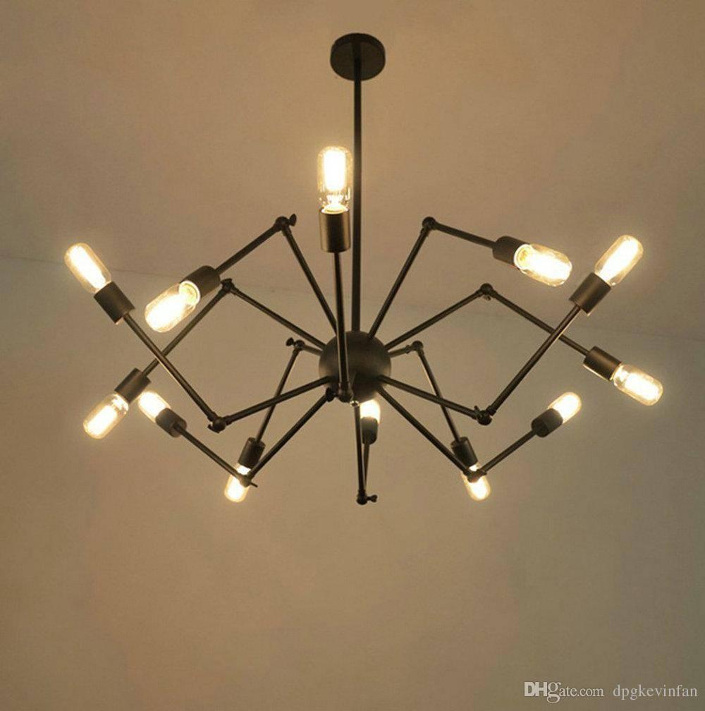 Spider Pendant Light Dorado 39-Inches Hanging Industrial Multi inside Multi Arm Pendant Lights (Image 15 of 15)