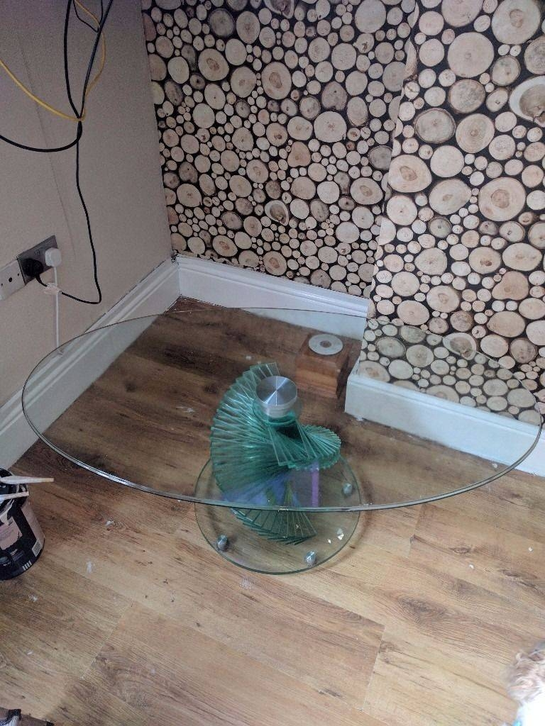 Spiral Glass Coffee Table | In Aspley, Nottinghamshire | Gumtree within Spiral Glass Coffee Table (Image 13 of 15)