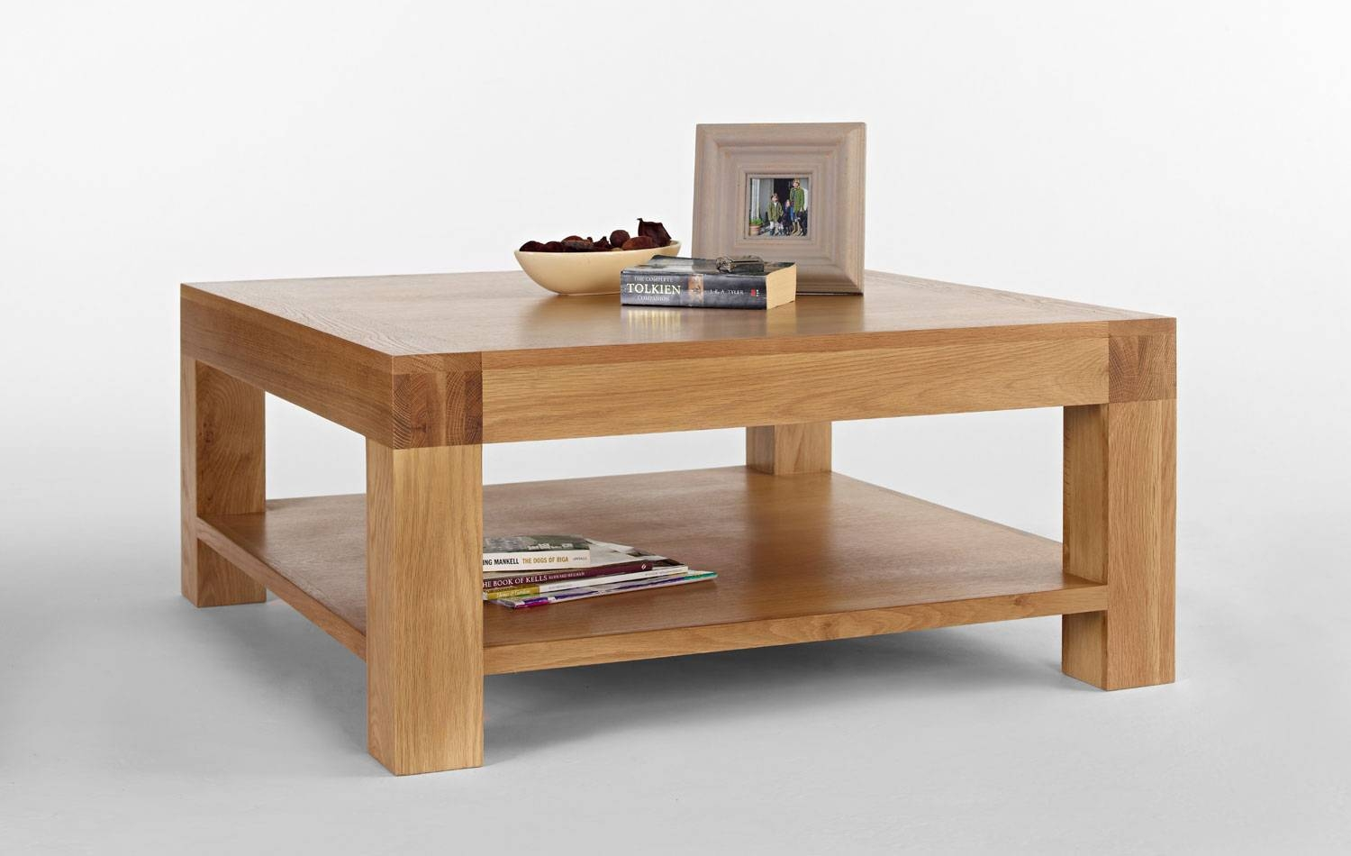 Square Light Oak Coffee Table - Light Santana Oak within Large Square Oak Coffee Tables (Image 14 of 15)
