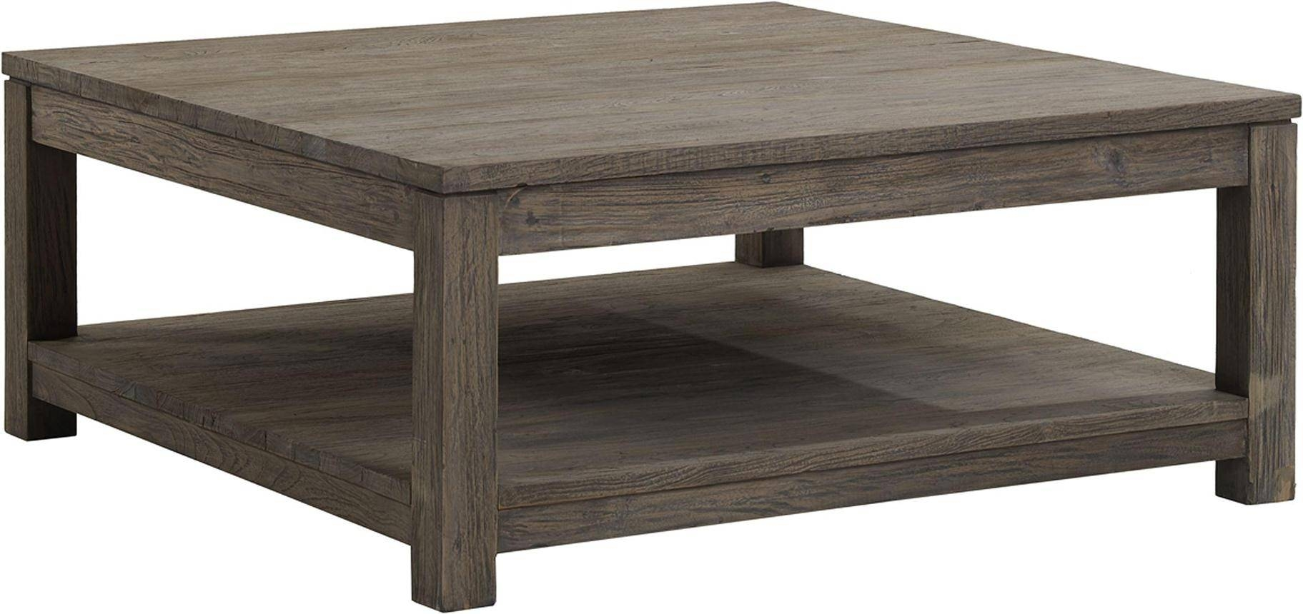 Square Wood Coffee Table For Natural Ambience Of Living Room in Square Wooden Coffee Table (Image 12 of 15)