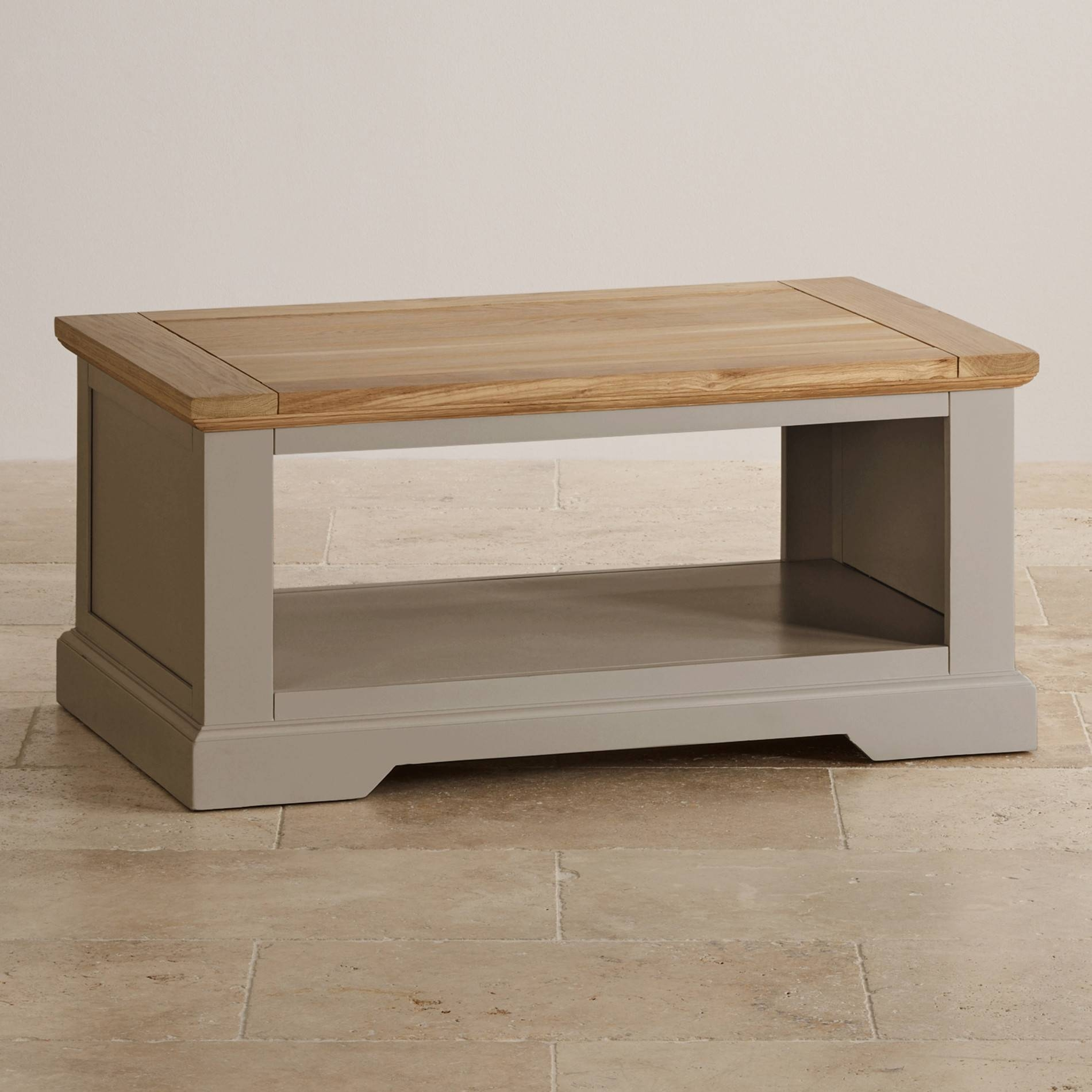 St Ives Coffee Table In Light Grey Painted Natural Oak within Light Oak Coffee Tables (Image 13 of 15)