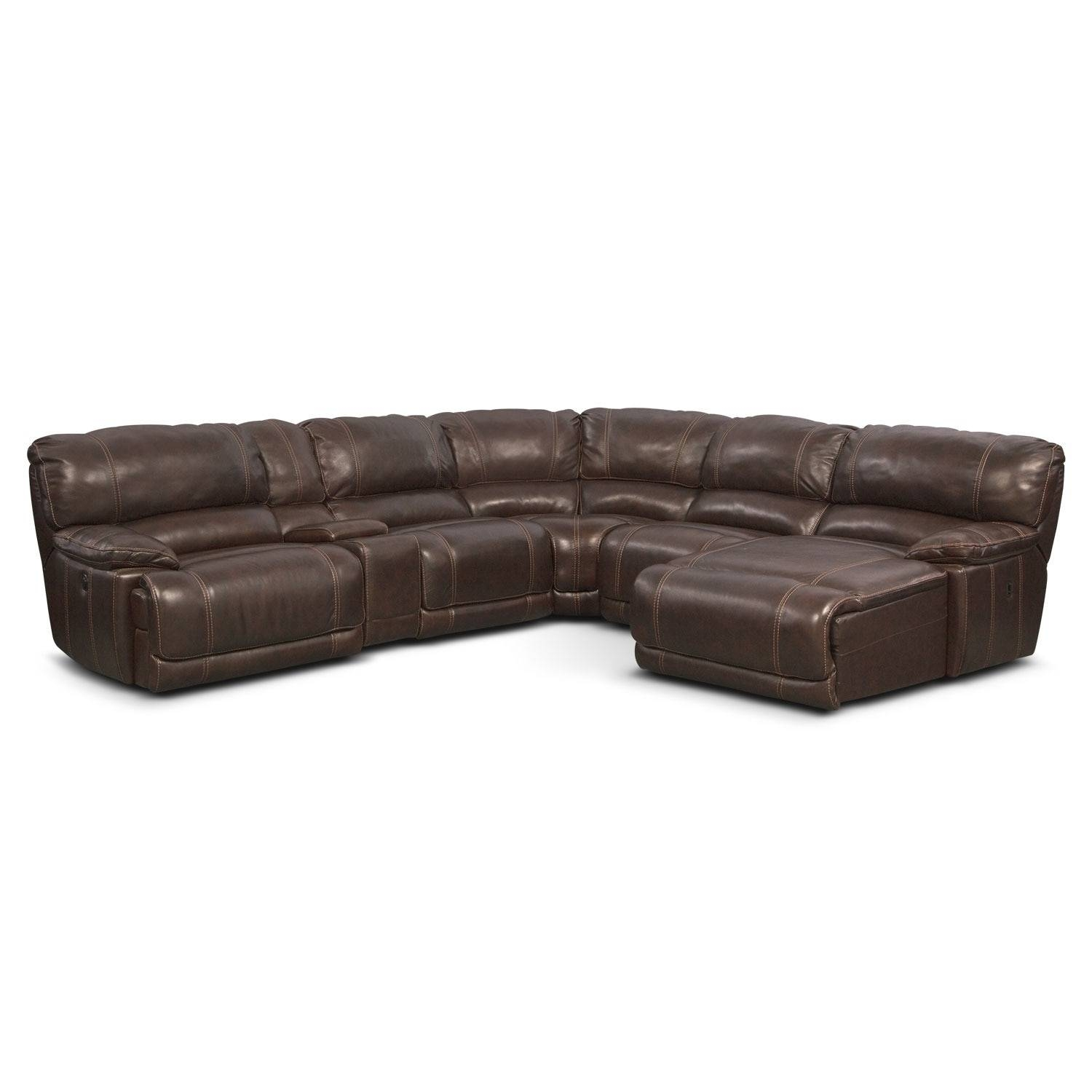 St. Malo 6-Piece Power Reclining Sectional With Left-Facing Chaise in 6 Piece Sectional Sofas Couches (Image 15 of 15)