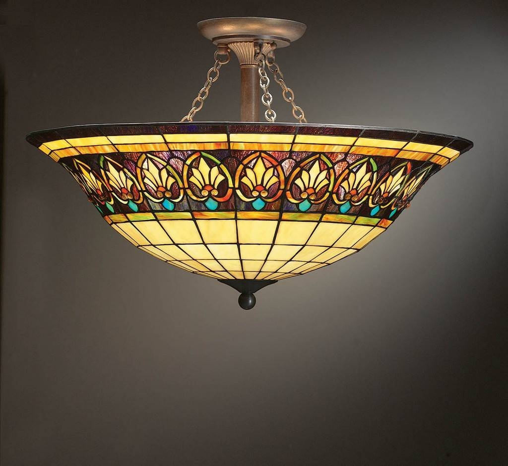 Stained Glass Ceiling Light Fixtures : New Lighting - Innovative in Stained Glass Lamps Pendant Lights (Image 7 of 15)