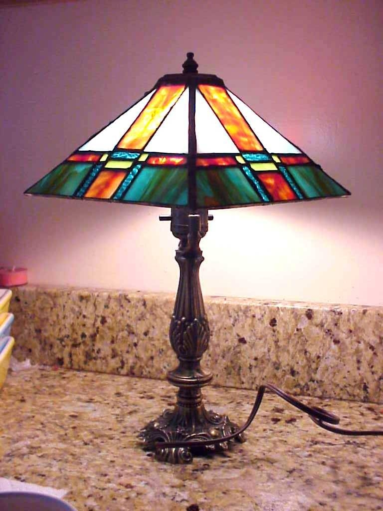 Stained Glass Lamps Light Crystal Lamp Lighting Sale Ball Table Within Stained Glass Pendant Light Patterns (View 6 of 15)
