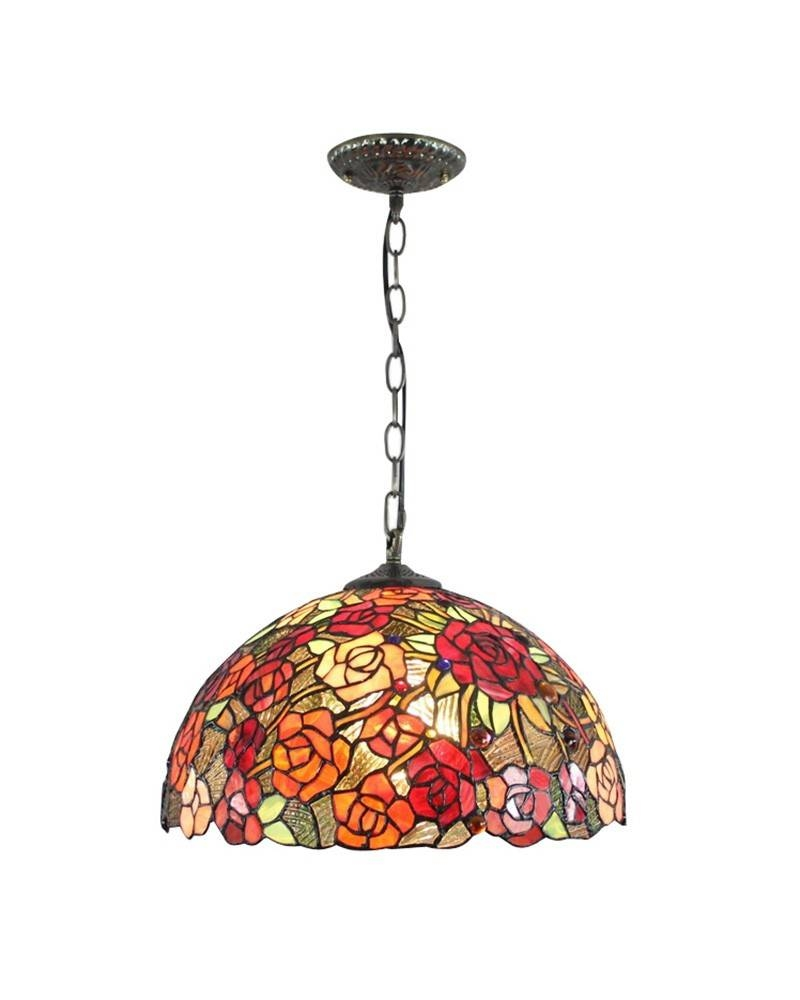 Stained Glass Tiffany Chain Hanging Pendant Light - Parrotuncle inside Stained Glass Lamps Pendant Lights (Image 12 of 15)