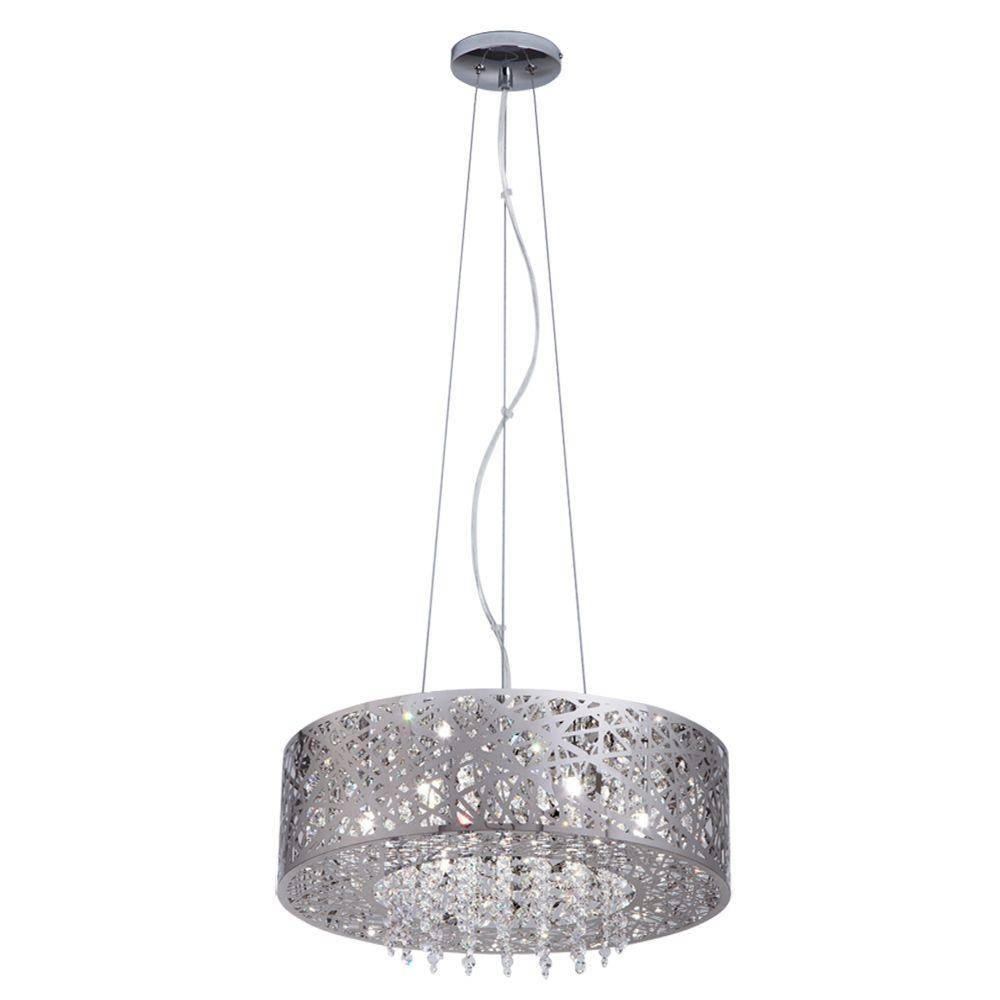 Stainless Steel - Hanging Lights - Lighting & Ceiling Fans - The within Brushed Stainless Steel Pendant Lights (Image 12 of 15)