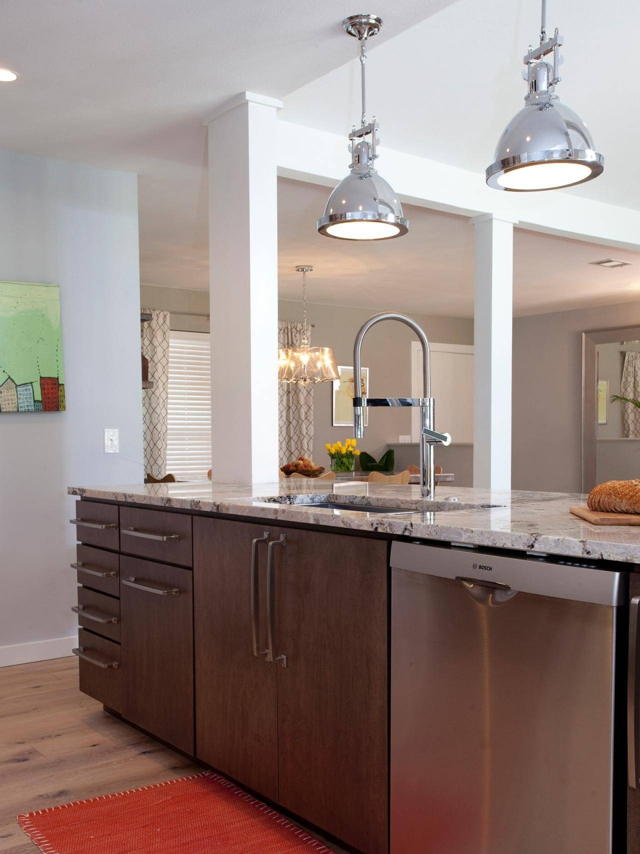 Stainless Steel Kitchen Light Fixtures – Aneilve Intended For Stainless Steel Pendant Lights (View 10 of 15)