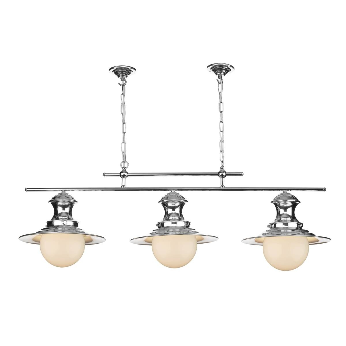 Station Polished Chrome 3 Light Pendant Bar intended for 3 Lights Pendant Fitter (Image 12 of 15)