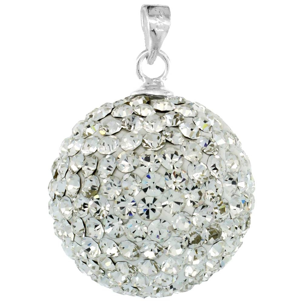 Sterling Silver Jewelry-Swarovski & Other Crystals-Pendants inside Disco Ball Pendants (Image 12 of 15)