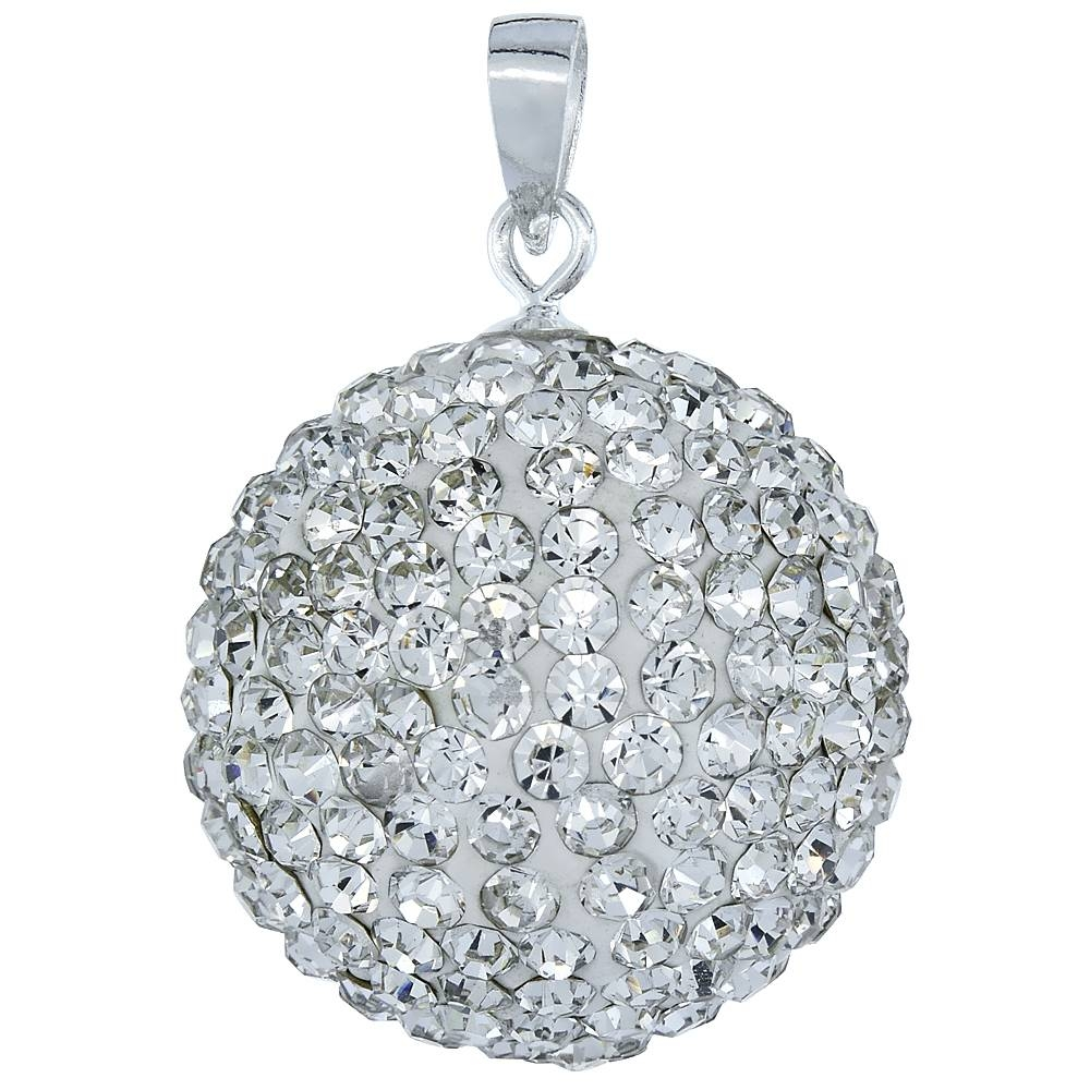 Sterling Silver Jewelry-Swarovski & Other Crystals-Pendants pertaining to Disco Ball Pendants (Image 13 of 15)