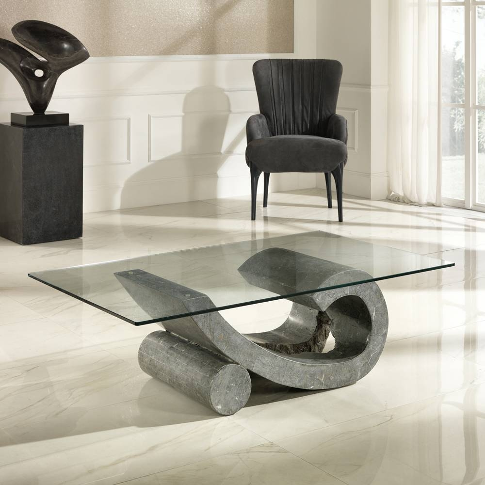 Stone Coffee Tables And Side Tables in Glass and Stone Coffee Table (Image 13 of 15)